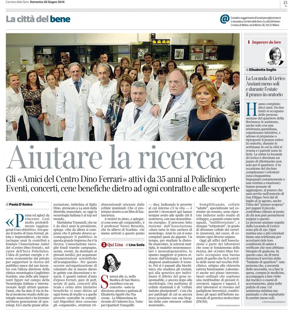 Pagina 13Corriere della Sera Milano - 26 Giugno 2016