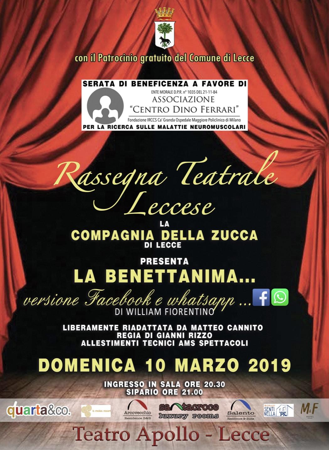 Iniziativa teatrale a Lecce per la ricerca contro le malattie rare